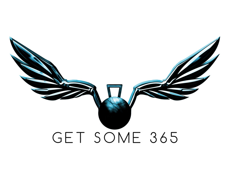 a digital illustraiton of a kettlebell with wings
