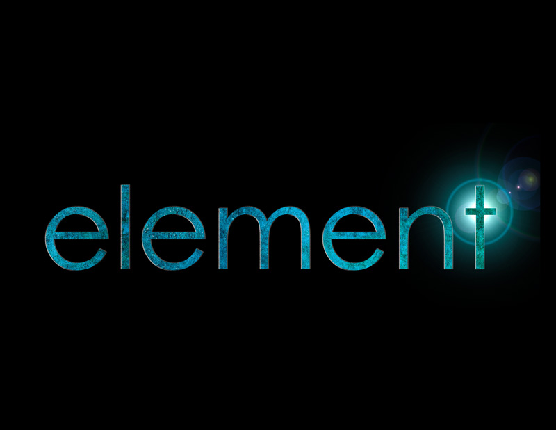 element logo with the letter 't' suggesting a cross